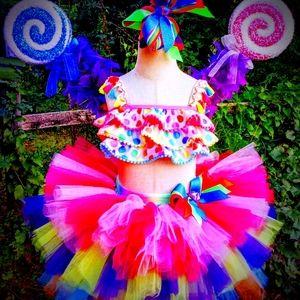 Custom candy land tutu birthday party set pageant